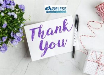 [AGELESS] LETTER OF THANKS ON THE OCCASION OF THE 20TH ANNIVERSARY